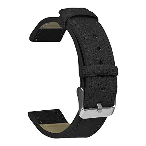 Watch Bracelet 20Mm, CHshe Uhrenarmband Klassisch Retro Herren Lederarmband Armband Watch Band Strap Ersatband Mit Edelstahl Metall Schließe Für Huami Amazfit Bip Youth Lite Watch