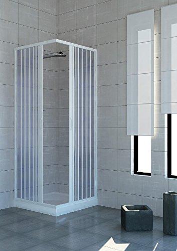 Box doccia 80X100 cabina angolare a soffietto bagno in pvc