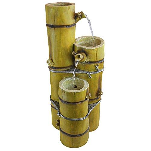 Design Toscano UK30197 Asian Bamboo Cascading Garden Fountain Water Feature, Multi-Colour