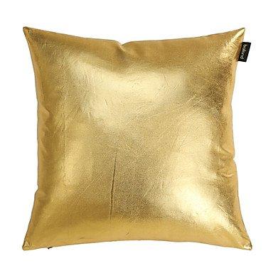 Miaoge Modern Soild Gold Denim Decorative Pillow Cover