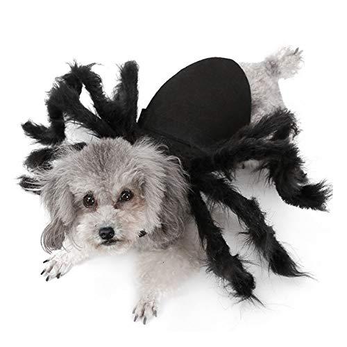 Geist Kostüm Haustier - Aramomo Haustier-Spinnengeschirr Gruseliges Halloween-Kostüm für Katzen und Hunde.