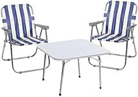 Weblonya Kamp Seti + 2 Kamp Sandalyesi Bahçe Sandalyesi 2090