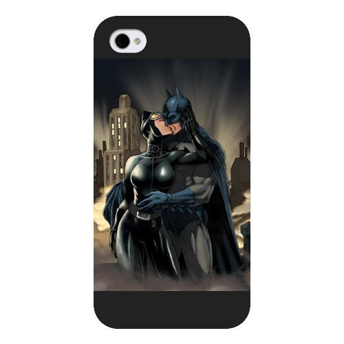 om Phone Case for iPhone 4 4S, DC comics Catwoman Customized iPhone 4 4S Case, Only Fit for Apple iPhone 4 4S (Black Frosted Shell) ()