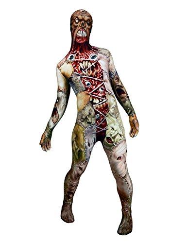 Horror-Gesichter Morphsuit Halloween bunt XL (bis zu 1,90 m)