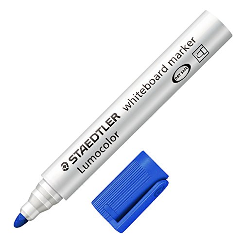 Staedtler Marcatore a Secco Lumocolor Whiteboard Blu - Tonda - 2 mm - 351-3