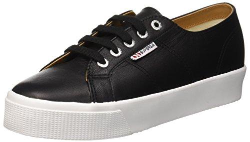 Superga 2730-nappaleau, sneaker donna, nero (black/white c39), 38 eu