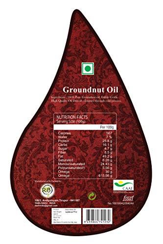 The Oil Factory Cold Pressed Groundnut/Peanut Oil (Virgin, Chekku/Ghani) - 5.25 LTR