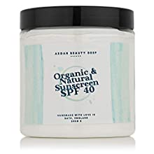 Natural Organic Sunscreen SPF40 250g / For Children and Adults/Handmade with 100% Organic ingredients, Waterproof & Reefsafe/Will protect your Precious Skin from the Suns harmful Rays.
