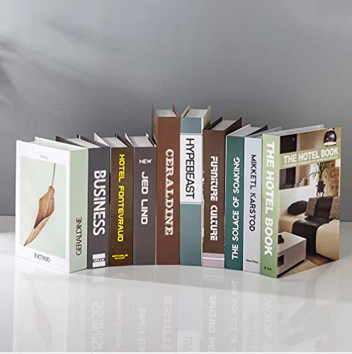 STSJSI Gefälschte Buchdekoration Gefälschte buch simulation buch dekorationen wohnzimmer café bücherregal bücherregal dekoration foto requisiten buch modell buchumschlag