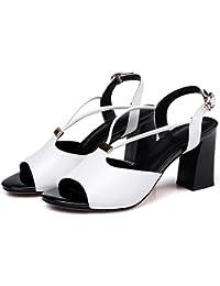 Scarpe da donna Sneakers Pu Primavera Wild Students Scarpe casual Scarpe sportive in pizzo Bianco Nero GAOLIXIA ( Color : Black , Dimensione : 38 )