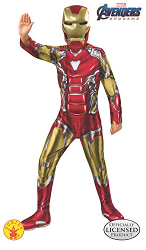 Roboter Kostüm Kind - Rubie's Offizielles Avengers Endgame Iron Man, klassisches Kinderkostüm, Größe L, Alter 8-10, Höhe 147 cm