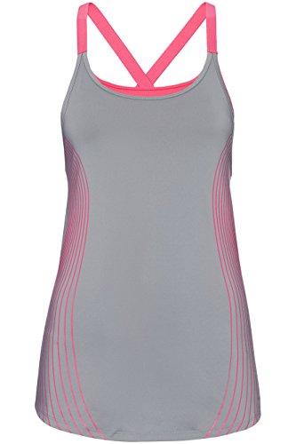 FIND Top de Sport Ajustable Femme Gris (Mid Grey)
