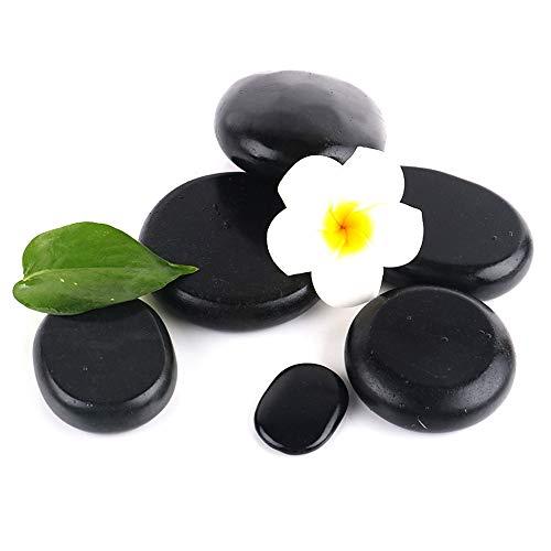 Langyinh spa hot rocks - attrezzo professionale per massaggi rilassanti con pietre calde - pietre naturali di basalto per terapia, trattamento spa,6pcs1.18x1.57inch