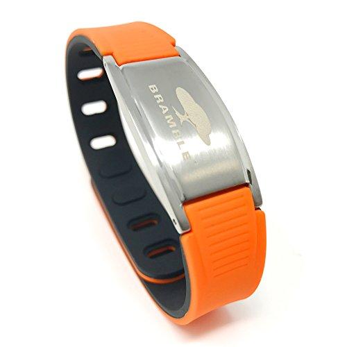 Ionen Armband, negativ Ion Sport Magnetarmband aus Silikon für die Gesundheit, Magnet Power Balance Energie Armband für Damen und Herren (Orange)