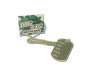 NEW DOG TAG NECKLACE NOVELTY ARMY CADET FANCY DRESS (accesorio de disfraz)