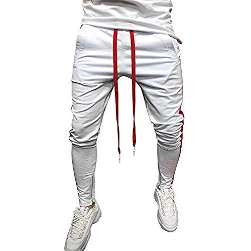 8ae25747eaf Rawdah_Pantalones Hombre Pantalones De CháNdal De Los Hombres Casual  Joggings EláSticos Deporte.