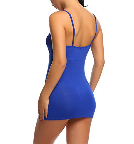 Avidlove Damen Spitze Dessous Set Brustpflege Babydoll Nachthemd Y Blau