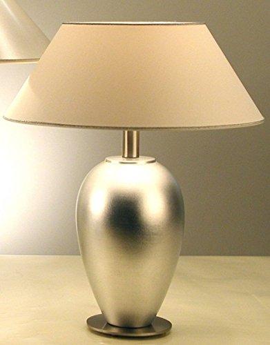 Lampada da tavolo olandese Lambda spesso nickel Foglia Argento Realizzato a mano, qualità tedesca