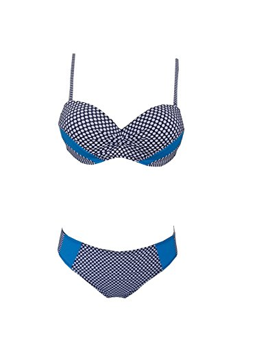 Mme summer maillot de Western President point vague Mme Couture stries bikini maillot de split-YU&XIN Blue