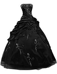 sunvary Retro Vestido De Recogida De Mujer Sin Tirantes quincenera vestidos novia para boda
