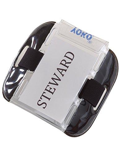 Confezione da 2, colore: nero-Supporto porta Badge di sicurezza, per porta, il personale, per addetti alla e impianti