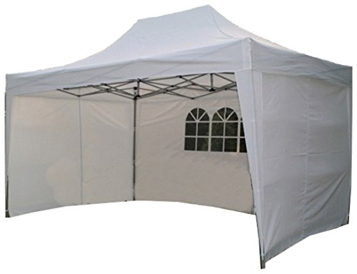 Airwave 4 5mtr x 3mtr Pop Up Gazebo, FULLY WATERPROOF with Four Side  Panels, Integral Windbar and Carry Bag