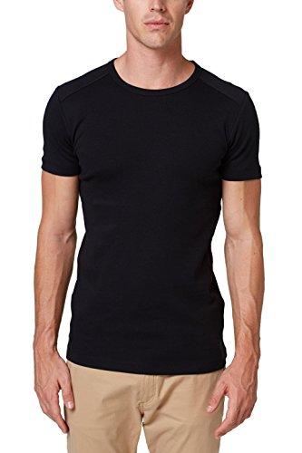 ESPRIT Herren 998EE2K816 T-Shirt, Schwarz (Black 001), Small