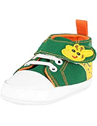 bddf11da182ec Krexus Infant Nouveau bébé garçon Fille Semelle Souple antidérapant sur  Toile Sneakers Cheville Chaussons première Chaussures