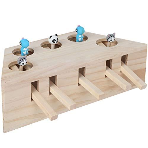 Comtervi Katzenspielzeug Set Interaktiv Katzenangel Stoffmäuse Intelligenzspielzeug für Katzen aus...