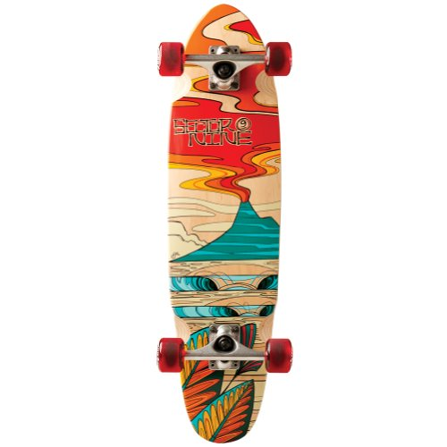 Sector 9Discovery Art Collection komplett Skateboard, rot (Longboards Bamboo 9 Sector)