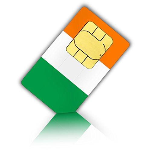 Preisvergleich Produktbild SIM Karte für Irland + 1GB mobiles Internet Datenvolumen - Standard & Micro SIM - irische Prepaid SIM Karte
