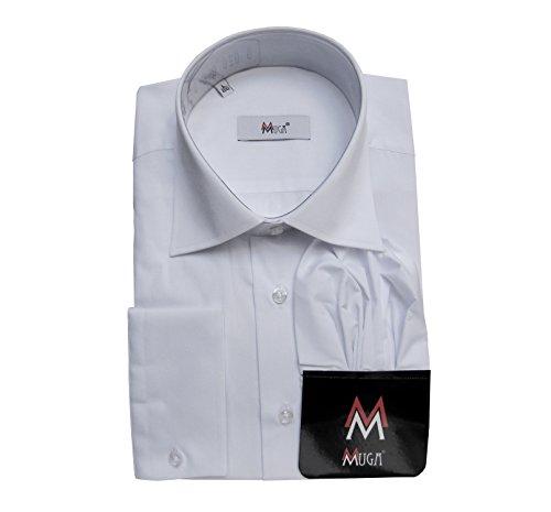 MMUGA -  Camicia Casual  - Maniche lunghe  - Uomo Bianco