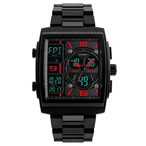 Knowin Uhren Mode Militärische Taktische LED-Digitaluhr aus Gummi für Herren mit Wasserdichtem Analogen Quarz zur Schau Herren Digital Sport Uhren - Outdoor wasserdichte Armbanduhr