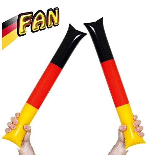 KarnevalsTeufel Air Sticks Fan Deutschland, Germany, EM, WM, Fanartikel, schwarz-rot-Gold
