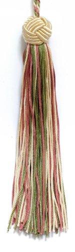 Set von 10Vanille, Dusty Rose, Light Olive Grün Woven Head Chainette Quaste, 14cm lang mit 5,1cm Loop, Basic Rand Collection Stil # bh055Farbe: 9401 -