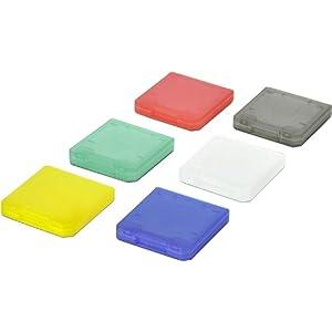 Speedlink Nintendo Spielhüllen (sechs mehrfarbige Spielkartenhalter für N2DS/N3DS XL/N3DS/NDSi XL/NDSi) bunt