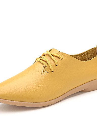 ZQ hug Scarpe Donna-Stringate-Casual-Comoda-Piatto-Di pelle-Nero / Giallo / Bianco / Arancione , orange-us9 / eu40 / uk7 / cn41 , orange-us9 / eu40 / uk7 / cn41 orange-us8.5 / eu39 / uk6.5 / cn40