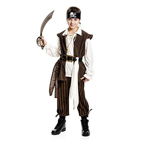 Kostümplanet® Piraten-Kostüm Kinder Jungen Pirat Kostüm Seeräuber Jungs 5-tlg. Größe 152