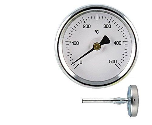 Termómetro 0-500° para hornos Pizza y barbacoa. Sonda mm.100