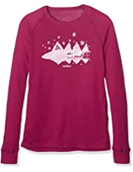 Odlo 150519–Camiseta de manga larga para niña, 150519, rojo, 140