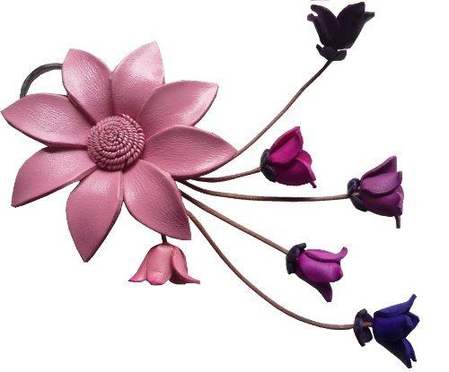 Blumen Anhänger, Schlüsselanhänger Margerite aus echtem Leder - verschiedene Farben