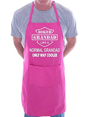 Mesllings Biker Grandad BBQ Kochschürze Pink