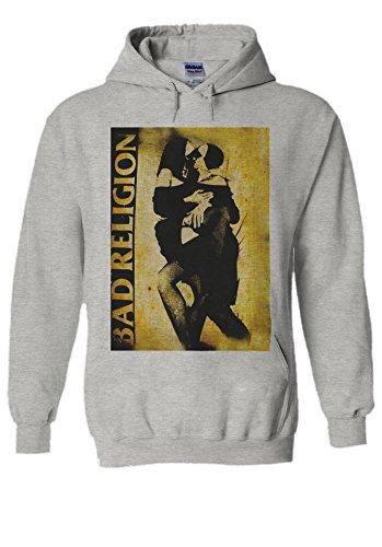 Bad Religion Kissing Nun Novelty Grey Men Women Unisex Hooded Sweatshirt Hoodie-L