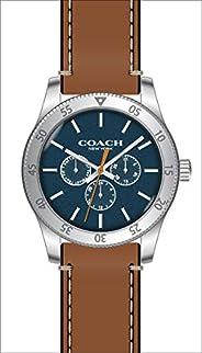 Coach Men's Blue Dial Brown Calfskin Watch - 1460