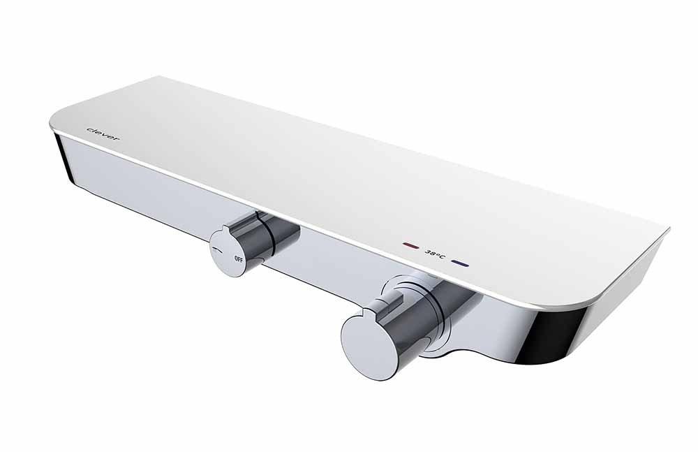 Nine Elegance – Grifo ducha termostática, mantiene la temperatura, genera confort, incluye teléfono, ducha y soporte a pared