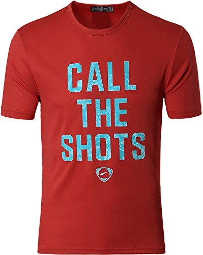 Jeansian Herren Sportswear Quick Dry Short Sleeve T-Shirt LSL182 LSL179_Red