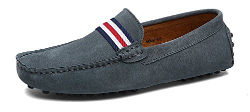 Eagsouni Herren Mokassin Bootsschuhe Wildleder Loafers Schuhe Flache Fahren Halbschuhe Slippers