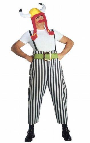 Widmann 39623 - Erwachsenenkostüm Gallier, Maxi Hose mit Hosenträgern, Gürtel, Helm mit Zöpfen und Schnurrbart, Größe (Kostüm Ideen Asterix)