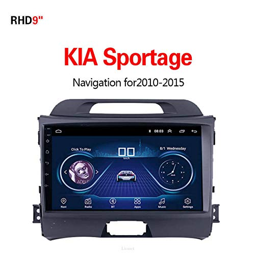 Lionet GPS-Navigation für Auto KIA Sportage 2010-2015, 9 Zoll Android 8.1, WLAN, 1G/16G, GPS-Navigation, Radio, HiFi, Bluetooth, lebenslange Karte Fahrzeug GPS Navigator