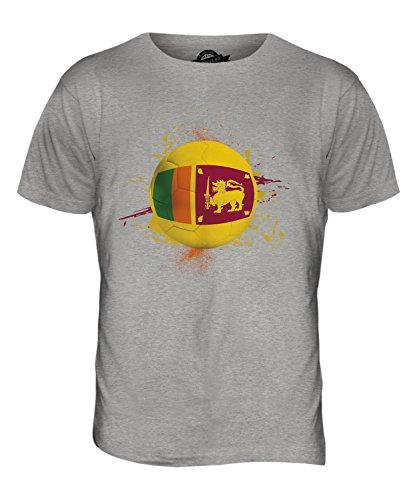 CandyMix Sri Lanka Calcio T-Shirt da Uomo Maglietta Marne Grigio
